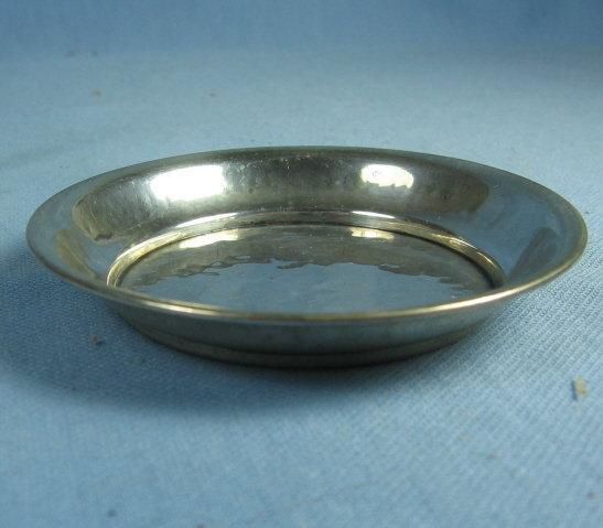 Hammered Sterling Silver BUTTER PAT Dish