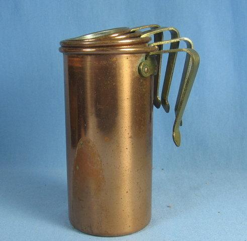 Copper MEASURE Cup Set - Decorative Vintage Metalware