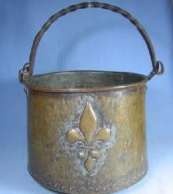 Hammered Brass Kettle - Antique Hand Forged 1700's metalware