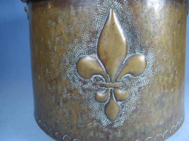 Hand Forged Hammered Brass Kettle - Antique 1700's metalware