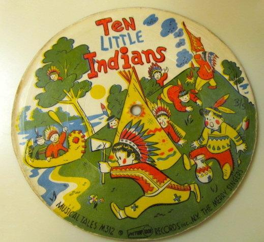 Ten Little Indians / A Frog Went A-Walking record