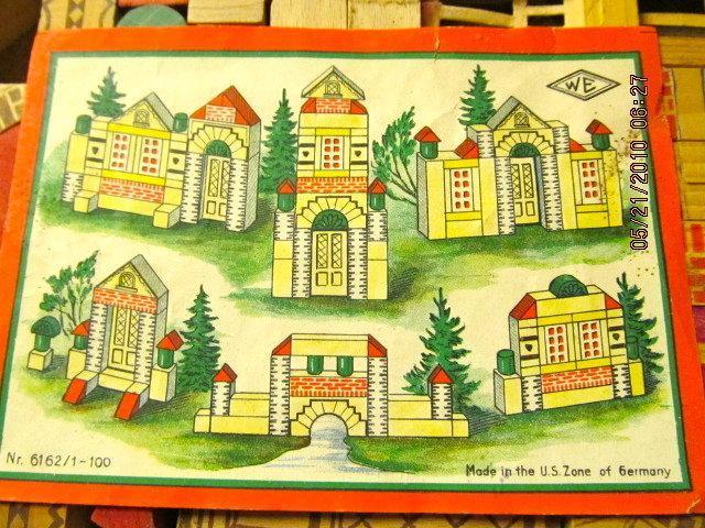 German Building Blocks in original Box - Toys