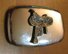 SADDLE Belt Buckle - Vintage Estate Jewelry