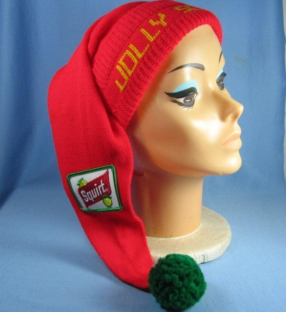 JOLLY SCROOGE Stocking Hat SQUIRT Soft Drink Advertising