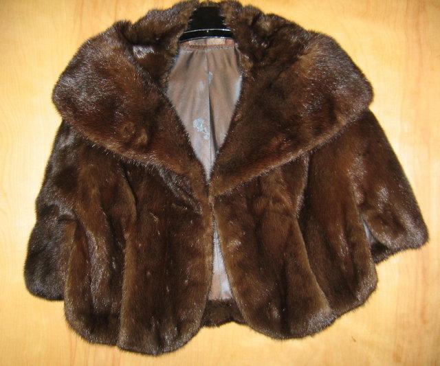 Natural Emba AUTUMN HAZE Mink Coat (Med Blue) - Vintage Fur Apparel