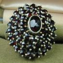 Bohemian GARNET Ring - Classy Antique Fine Jewelry