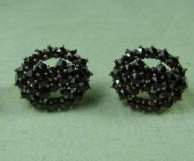 Bohemian GARNET EARRINGS -  Antique Fine Jewelry