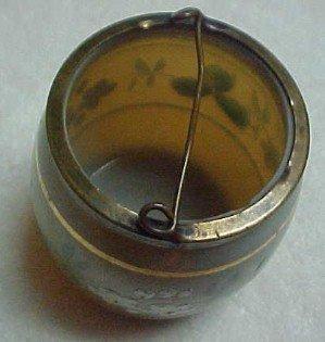 Enameled Bristol Glass Match Holder - Glass