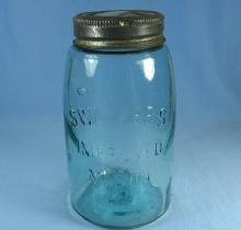 SWAYZEE'S Improved Mason Canning or Fruit Jar