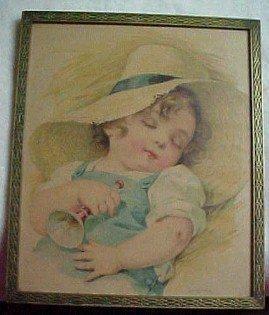 Maud Humphrey Print Little Boy Blue - Fine Art + Lamps