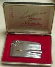Ronson Varaflame Lighter Gold Silver - Tobacciana