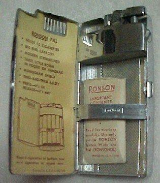 Ronson Varaflame Lighter Gold Silver - Tobacciana