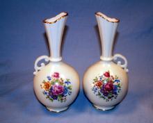Two LENOX Rose Decorated Porcelain Vases