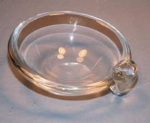 Signed STEUBEN Crystal Glass Mint Bowl