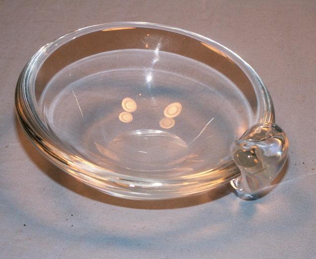 Signed STEUBEN Crystal Glass Mint Bowl