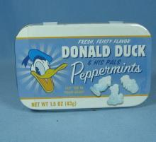 Walt Disney DONALD DUCK  & His Pals PEPPERMINT TIN   - Vintage Disneyana Collectible
