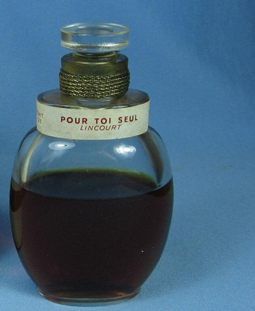 Lincourt 1945 French Perfume Bottle Rare POUR TOI SEUL - VERY Rare Perfume Bottle