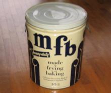 MFB 50# Wesson SHORTENING TIN - Antique Advertising Storage Tin