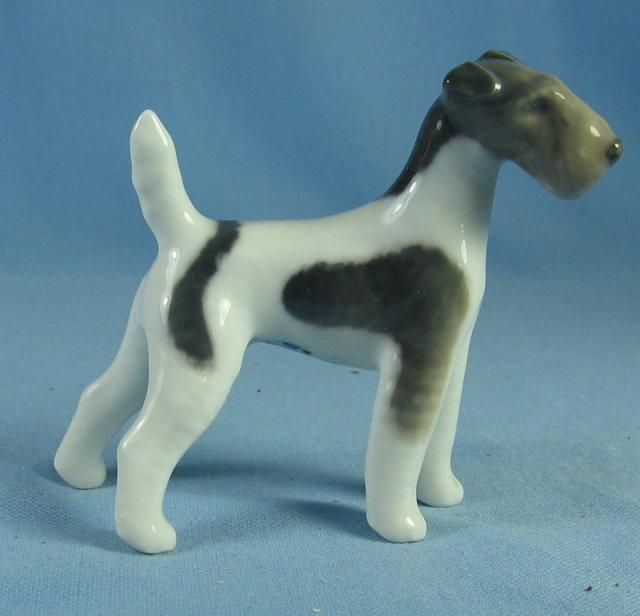IRISH TERRIER Figurine - Antique Royal Copenhagen Porcelain
