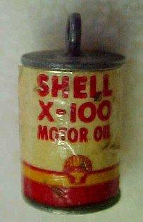 Gas Station SHELL OIL Can - Metalware