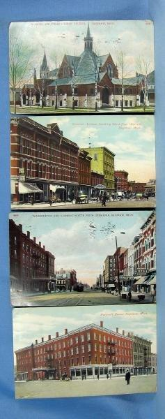 1900's Saginaw Michigan Postcard Group