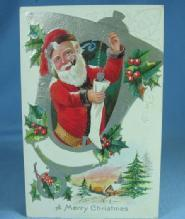 Vintage Santa Christmas Postcard