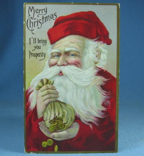 Santa Christmas Postcard