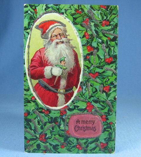 1900's Santa Christmas Postcard