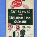 1950 Sinclair H-C Gasoline Illinois Map