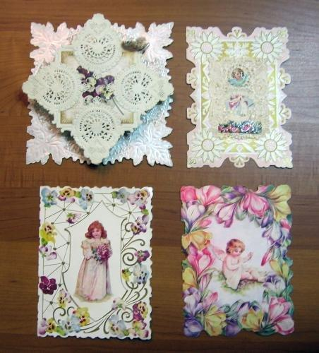 Group of Flower and Girl Cards misc