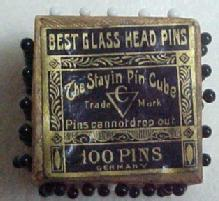 Glass Head Pins in Cube - Advertising