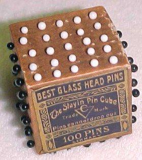 Best Glass Head Pins in Cube - Advertising
