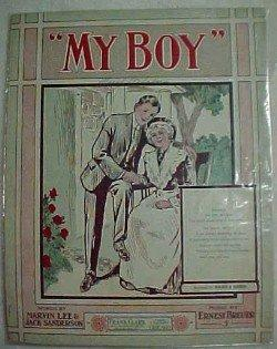 MY BOY Vintage Sheet Music  - Paper