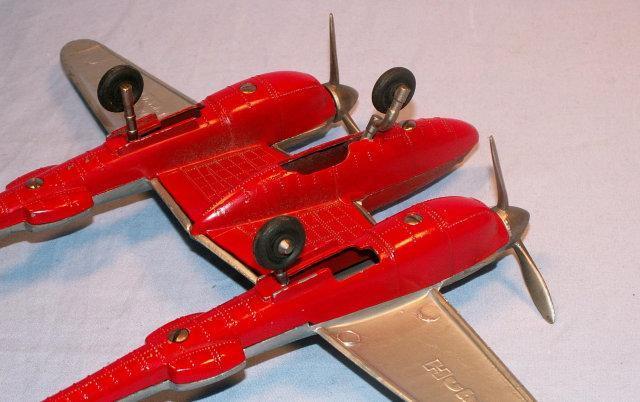 HUBLEY  Die Cast P-38 Fighter Plane - Toys