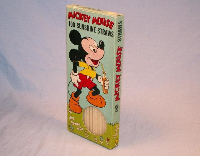 MICKEY MOUSE 100 Sunshine Straws - Advertising