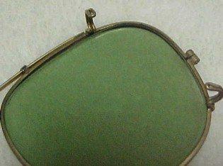 Old Round 12K Gold Eye Glasses - Glass
