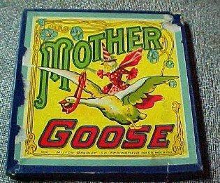 MOTHER GOOSE Board Game Vintage- Paper