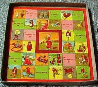 MOTHER GOOSE Board Game Vintage- Paper
