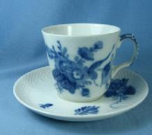 Royal Copenhagen Demi Cup & Saucer - Vintage Denmark Porcelain