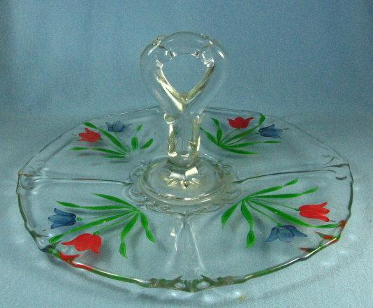Heisey LARIAT Chop Plate - Antique Glass Serving Platter