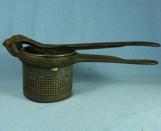 Green Handle POTATO RICER - Antique Kitchen Metalware