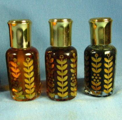PERFUME Oil Concentrate from the Orient - 3 Antique glass bottle