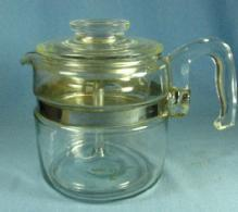 Pyrex Flameware 2-4 cup Coffee Pot Perculator #7754B - Vintage Glass Kitchen Cookware