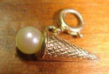 14K Ice Cream Cone Charm - Jewelry
