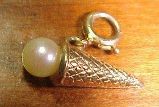 14K Ice Cream Cone Charm - Jewelry