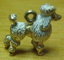 14K Poodle Charm Pendant  - Jewelry