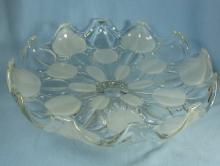 Frosted Glass  Pedestal CAKE STAND Server