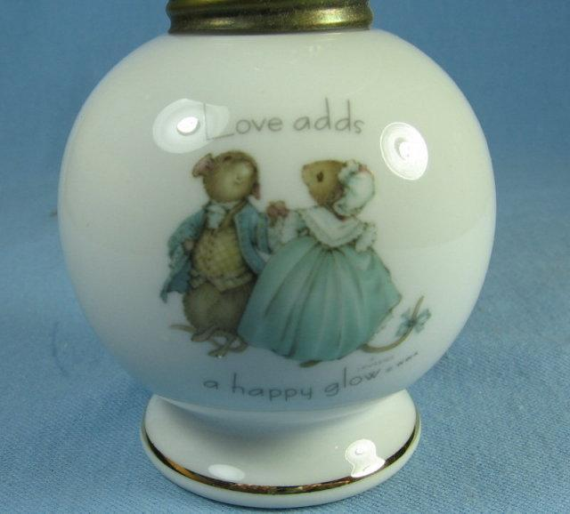 Tiny Talk Minitaure Oil Lamp - Collectible Porcelain Lighting
