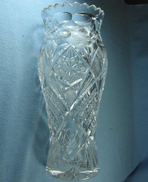 Antique Cut Glass Vase