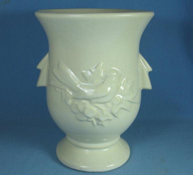 McCoy Pottery BIRD Pedestal Vase